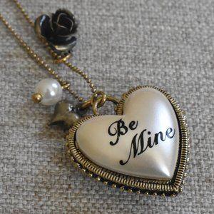 "Betsey Johnson Reversible ""Be Mine"" Necklace"